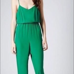 Topshop Emerald Jumpsuit with Elastic Waistband